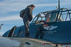 Yours truly on the wing of an Avenger TBM-3E, giving the pilot some pointers ;+)