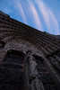 Entrance of Notre Dame at Twilight