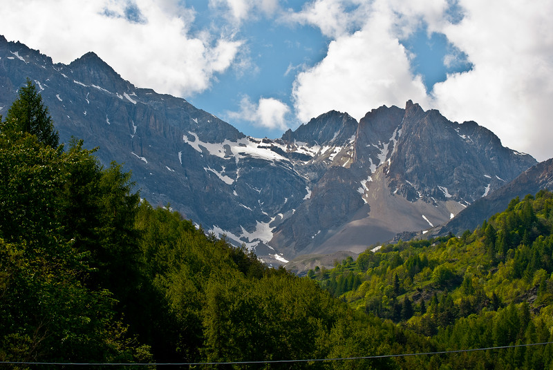 View from the town of Bardonecchia, Italy