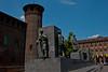 Rear of the Palazzo Madama and tribute to Italian World War Veterans