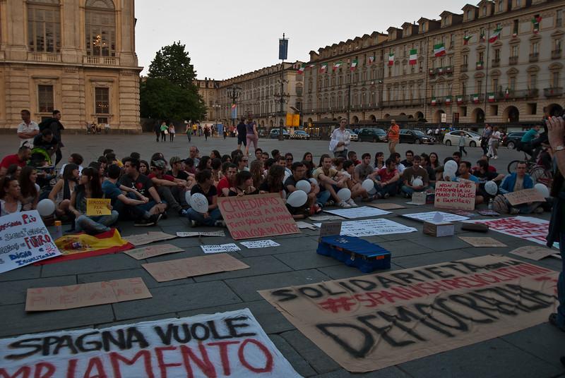 Mild, student civil unrest in the plaza