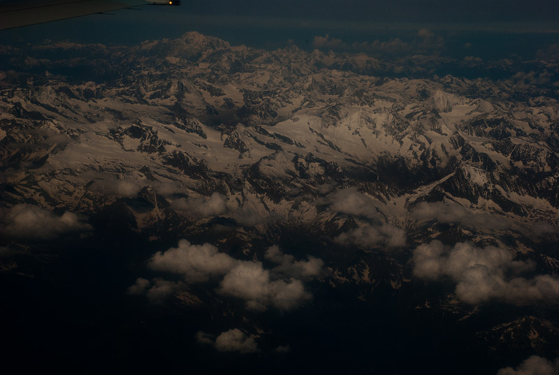 Flying over the Alps from Frankfurt