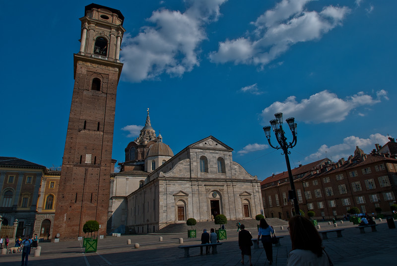 San Giovanni Battista Cathedral, built in the 1400s and current resting place of the Shroud of Turin