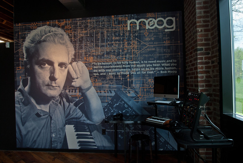 Robert Moog has his only factory in the US in Asheville, was the Director of music at UNCA, and was one of the most notable pioneers of electronic music, creating the first voltage-controlled subtractive synthesizer to utilize a keyboard as a controller. Rick Wakeman (Yes), Keith Emerson (Emerson, Lake and Palmer), Geddy Lee (Rush), Wendy Carlos (Switched on Bach), etc all are musicians who used Bob's tools to create music.