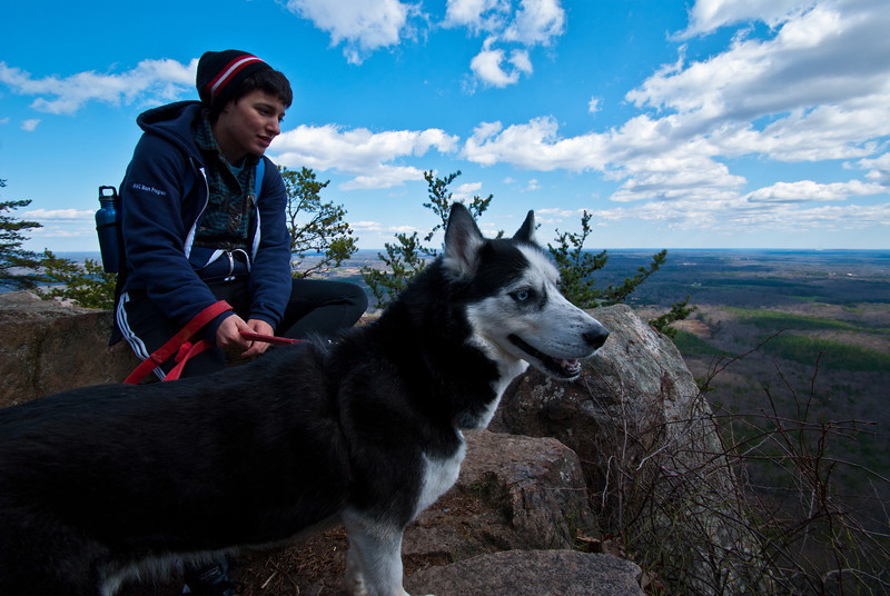 Holly and Zelda @ Crowder Mountain