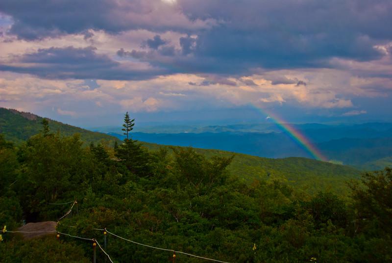 Rainbow to east of Rough Ridge