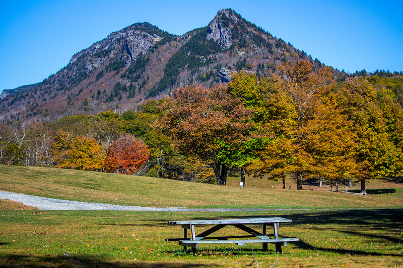 Grandfather Mountain from MacRae meadows campground