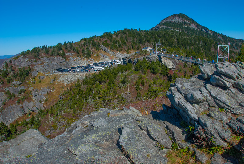 "Grandfather Mountain and mile high bridge from ""the other side"""