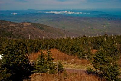 View from peak Mt. Mitchell