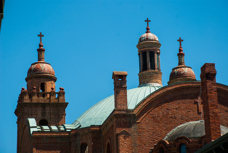 Basilica Shrine of St Mary, Wilmington, NC, view from behind Basilica