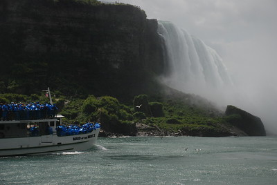 Maid approaches the force of the Niagara River