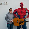 Tory got to meet her hero, acoustic Spiderman