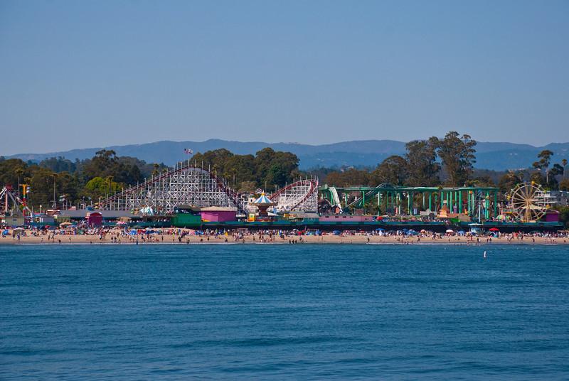 Santa Cruz Beach in June.