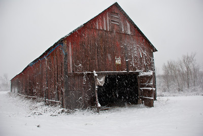 Windsor Locks barn, Blizzard !!!