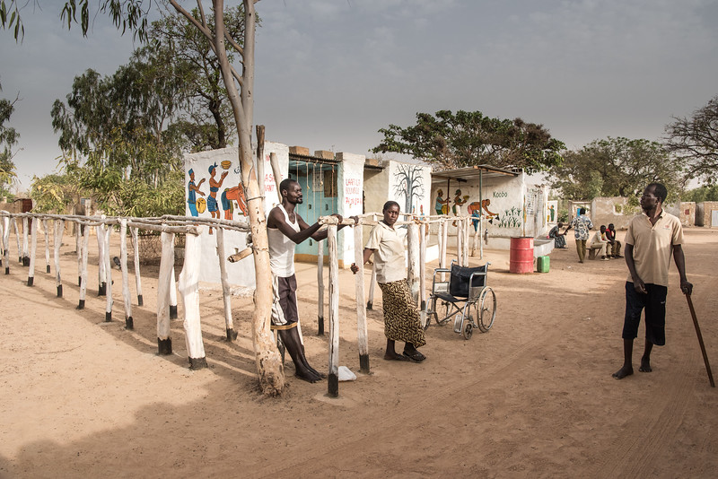Ouagadougu, Burkina Faso. The clinic of Belem, a physiotherapist who helps many patients in the functional recovery of motor disabilities.