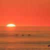 Lever de soleil dans la baie McDonald, Anticosti