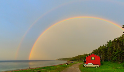 Double arc-en-ciel aux chalets Patate, un moment magique!