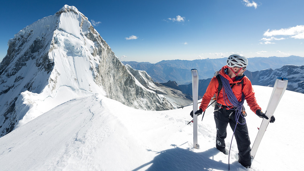 Jed Porter on the summit of Huandoy East