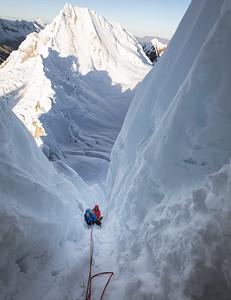Nearing the summit of Alpamayo