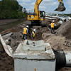 HCC crews install pipe runs and structures on EB SR 528.