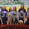 Huckleberry's Pet Parlor doggy daycare attendants pose for a photo with dogs after practicing for the Daycare Games on Feb. 9. Throughout February, the dog daycare participated in its first-ever Daycare Games, sponsored by The Dog Gurus. Pictured (from left) are Rachel Doran, Emma Valerius, Erin Mattingly, Tammie Cross, Lilly Haish and Rebecca Roby.