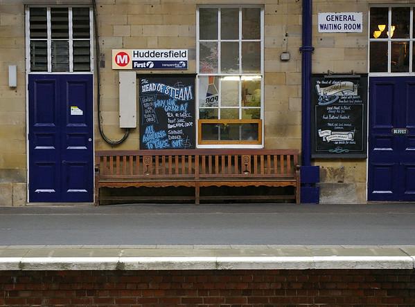 Midland Railway seats Huddersfield Station