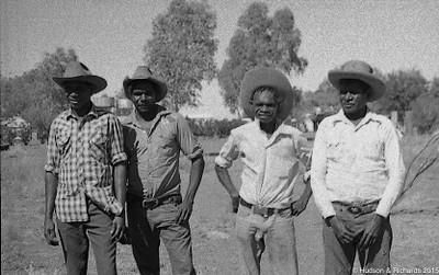 John Charles , Sam Smith, Patrick Smith with another Billiluna man 1973