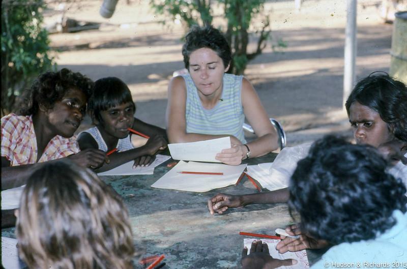 Walmajarri reading class Noonkanbah