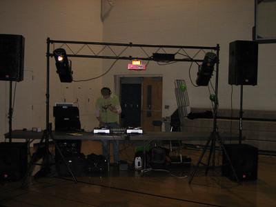 DJ Josh Mace getting the 1's and 2's ready