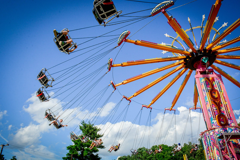 Swings at the Hudson Old Home Days on Sunday. SUN/Caley McGuane