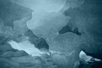 Monochrome River Ice