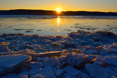 River Ice Golden Flecks