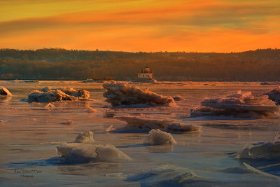 Sunrise and Ice Esopus Meadows