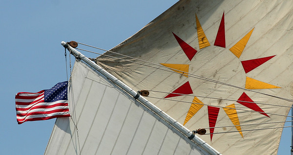 The sails of the Hudson River Sloop Clearwater.