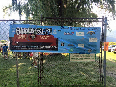 2015 Oktoberfest hostsed by Knight of Columbus #536 - Cold Spring, NY - 9/19/15 thru 9/20/15
