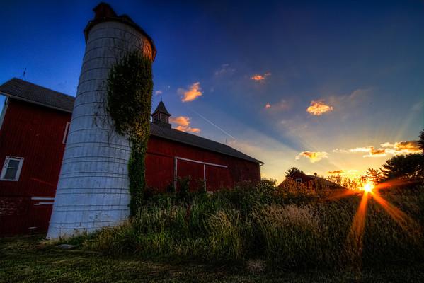 Summer Sunset at Barlow Farm Park