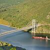 Red Tanker at Bear Mountain Bridge