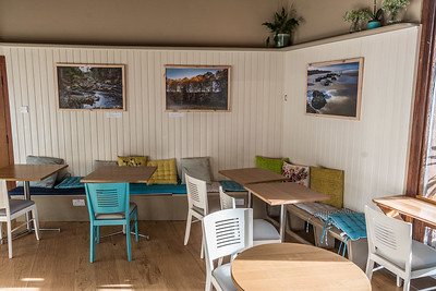 Cafe panelling and benches