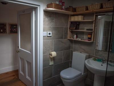 Bathroom  tiling plumbing and woodwork