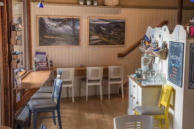Cafe panelling and tables