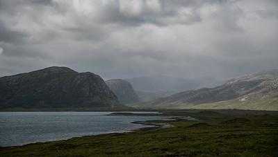 Local shower, Loch Eriboll