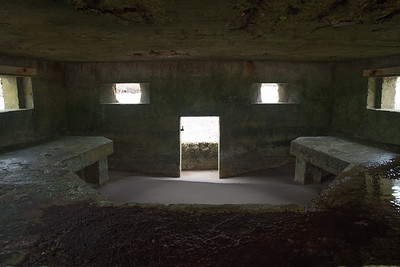 Stranded bunker, Burghead Bay