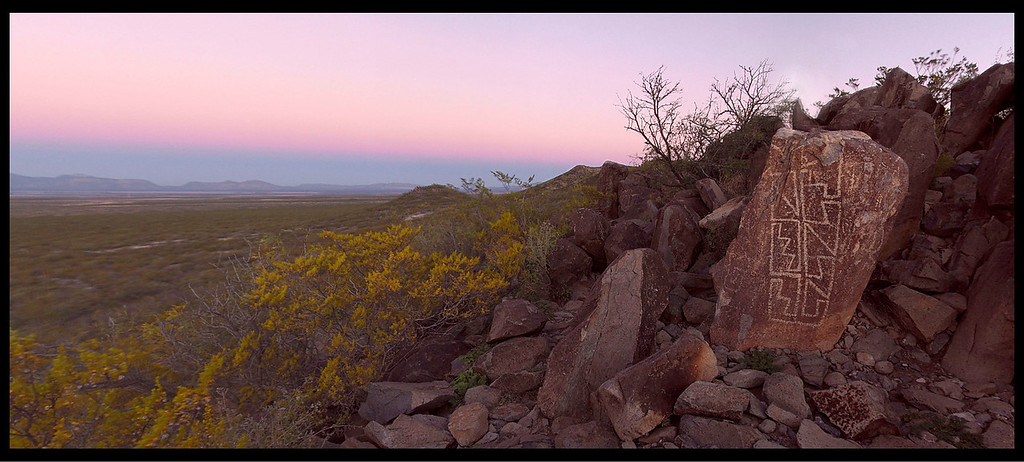 Sunrise at Three Rivers Petroglyph Park