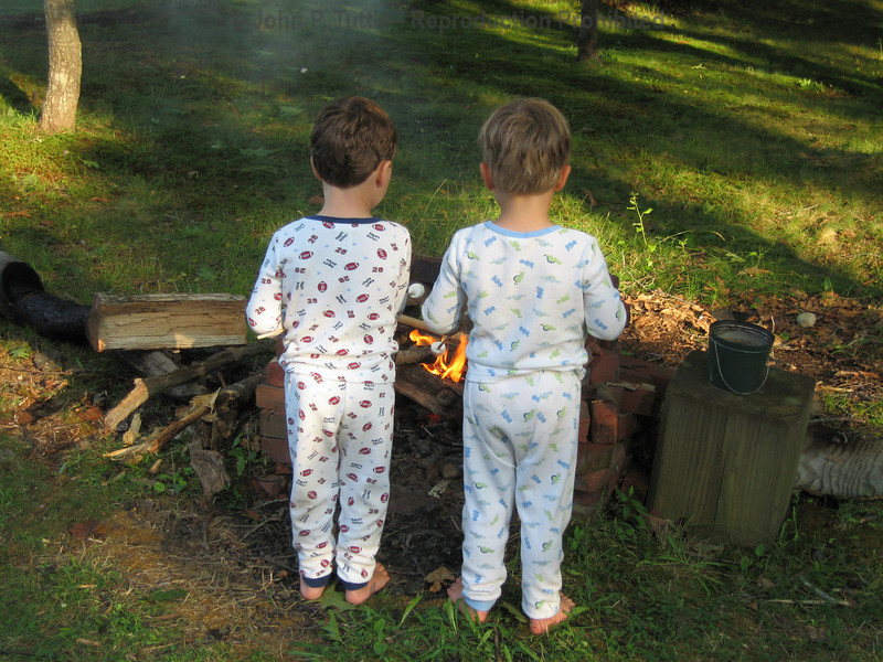 Roasting marshmallows before bed