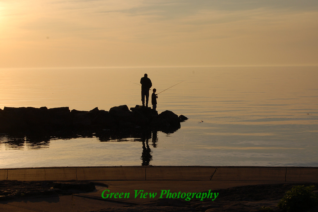 Evening Fishing, Webster, NY.  This picture was selected to be included in the 2008 Capture Rochester Coffee Table Book.