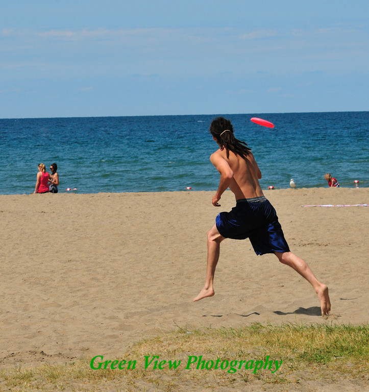 Frisbee on the Beach