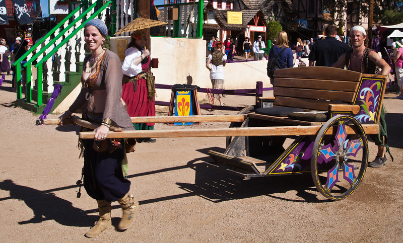 Mass transportation around the 2012 Renaissance Festival was very friendly.