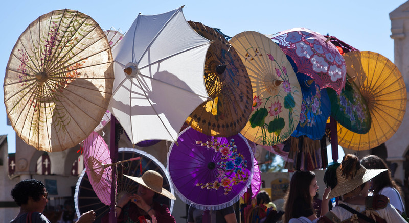Parasols for sale at the 2012 Renaissance Festival