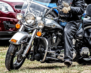Biker Dude, Memorial Day service, Crescent Beach, Washington 2015