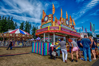 Carnival, Clallam County Fair,  Washington State, Aug 2015